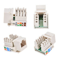Cat6 RJ45 Punch Down Keystone Jack CAT6 Network Ethernet RJ45 White Lot