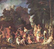 """1960 Art Print """"The Feast Of The Gods"""" By Giovanni Bellini Italian Free Shipping"""