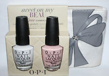 OPI SWEET ON MY BEAU Nail Polish Set ALPINE SNOW & SWEET HEART + free gift **