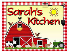 PERSONALIZED FARM COUNTRY KITCHEN MAGNET