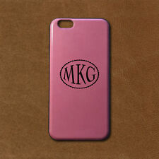 Personalized Monogram iPhone 6/6s PU Leather Case - Pink - Engraved in USA