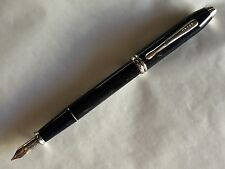 Cross Townsend Fountain Pen, Black Lacquer, item AT0046-4, Medium Nib New In Box