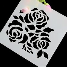 5 inch Rose Flower Stencil For Decorating Cakes, Airbrush Tatoos, Scrapbooking