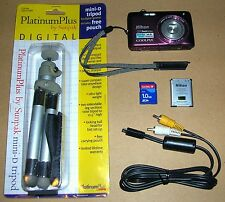 NIKON COOLPIX S4100 14MP TOUCH SCREEN DIGITAL CAMERA SET - PLUM COLOR