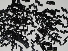 Lego Lot of 100 New Black Modified Plates Step Up Parts