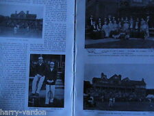 Lawn Tennis Rare Antique Victorian Photo Article 1898 Hillyard Baddeley Eaves