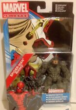 Marvel Universe Figures  Of MARVEL'S SPIDER-MAN and RHINO Twin Pack 3.75""
