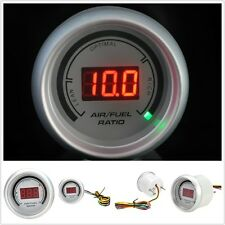 "White 2"" 52mm Analog 20 LED Air/Fuel Ratio Monitor Racing Digital Gauge VN"