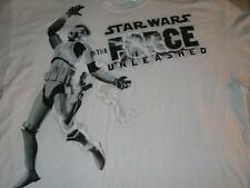 Star Wars Stormtrooper The Force Unleashed Video Game White T-shirt Mens XL used