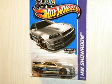 HOT WHEELS 2013 HW SHOWROOM NISSAN SKYLINE GT-R (R34) ZAMAC RELEASE