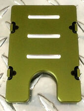 BilletVault Wallet Alum RFID protection Military Green Anodized made in the USA