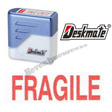 { FRAGILE } Deskmate Red Pre-Inked Self-Inking Rubber Stamp #KE-F01A