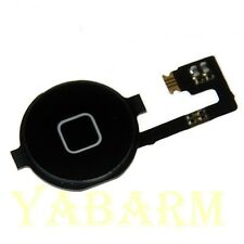 Black Home Menu Button  Flex Cable + Key Cap assembly for Apple iPhone 4