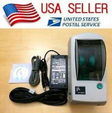 Zebra LP 2824 Thermal Label Printer with Serial and USB Interface & Power Supply
