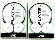 Lot of(2)JVC HAS160W FLATS Lightweight Headband Headphones (White)for Mp3/Tablet