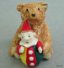 Steiff Ceramic Figurine Bear 1904 Roly Poly Clown 1909 Boxed Miniature 1994 -96