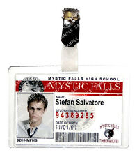 The Vampire Diaries Stefan Salvatore ID Badge Cosplay Prop Costume Christmas