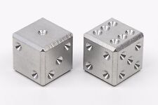 Stainless steel CNC machined metal casino dice