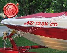 "3""X18"" Boat Registration Numbers 2 Pieces Jet Skies, PWC. Vinyl Decal Stickers"