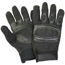 NEW - Tactical Hard Knuckle Assault SWAT Gloves BLACK - M