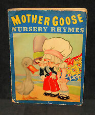 Mother Goose Nursery Rhymes - classic children's poems, 1930's Whitman softcover