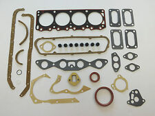 FULL ENGINE HEAD SUMP GASKET SET CORTINA 1600 E GT CROSS X FLOW OHV WEBER KENT