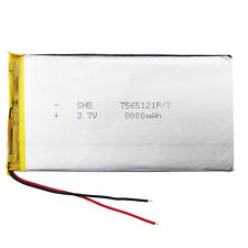 3.7V 8000 mAh 7565121 Li po Polymer li ion Battery For Tablet PC Power Bank PAD