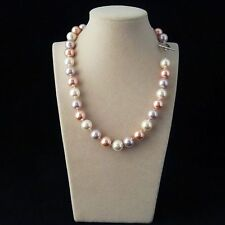 natural AAA+ 12mm mix color south sea shell pearl fashion necklace 18''