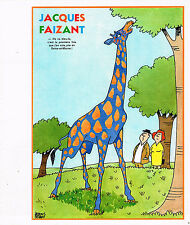 PUBLICITE ADVERTISING 015  1976  DESSIN JACQUES FAIZANT  la Girafe