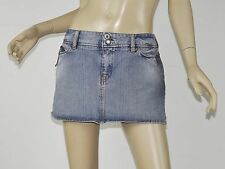 DIESEL Light Blue Distressed Denim Micro Mini Zipper Detail Skirt 31 M