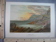 Rare Antique Original VTG 1885 Caswell Bay Helga Von Cramm Color Litho Art Print
