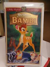 DISNEY - BAMBI - VHS, WALT DISNEY PICTURES - CLAM SHELL  *FREE SHIP