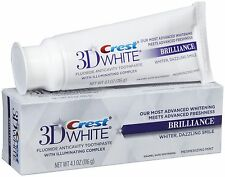 Crest 3D White Brilliance Teeth Whitening Toothpaste, 4.1 oz (116g) FULL SIZE