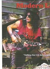 GUNS N' ROSES Slash with steel guitar  magazine Poster / Clipping 11x8 inches