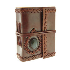 Fair Trade Handmade Mini Stoned Leather Journal Diary - 2nd Quality
