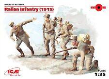 WW I ITALIAN INFANTRY (1915) WITH WEAPONS 1/35 ICM