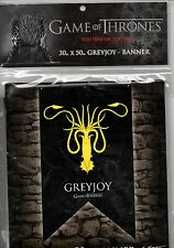 Game of Thrones Greyjoy Sigil-75cm x 125cm Textile Banner-Brand New