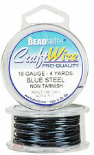 Blue Steel 18GA Round Craft Wire Jewelry Beading Wrapping Jump Rings 4 Yds