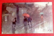 CPA. TUCK. Un mot à la poste. Parapluies. Pluie. Série 365. 1903. Illustrateur?