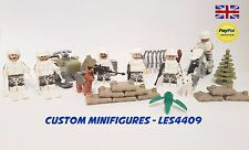 6pc Snow Army | Military | SWAT | Soldier Custom Minifigure + FREE LEGO BRICK