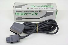 Super Famicom Official RGB SCART CABLE SHVC-010 Boxed Nintendo JAPAN Game 2036