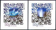 Iceland 2012 Tourism/Aurora/Volcanic Geyser/Nature/QR Code 2v set s/a (n42361)