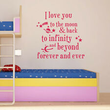 I Iove you beyond forever Wall Quote Sticker Decal Baby Nursery Decor Vinyl Art