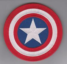 "Avengers Captain America Shield Iron on  Movie patch 6""  100% Embroidered"