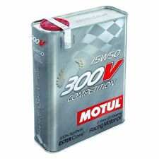 Motul 300V Competition 15W50 2 Liters Synthetic Racing Motor Oil 104244
