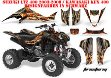 Amr racing decoración Graphic kit ATV suzuki ltz & Kawasaki KFX Firestorm B