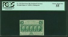 """1862-63 50 Cent Fractional Currency Fr-1312 Certified Pcgs """"Choice About New 55"""""""