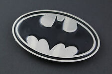 BATMAN BLACK SILVER FLAT METAL BELT BUCKLE DC COMICS MOVIE