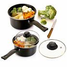 "4 Way Saucepan 8"" / 6"" Sauce Pan Cooking Dividers Section Energy Saving Dividing"
