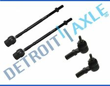 Brand New 4-Pc Inner and Outer Tie Rod Ends for Ford Escort Tempo Mercury Topaz